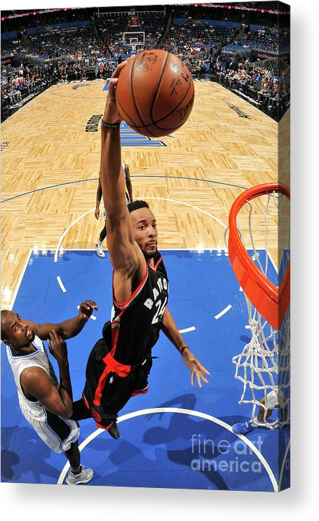 Nba Pro Basketball Acrylic Print featuring the photograph Norman Powell by Fernando Medina