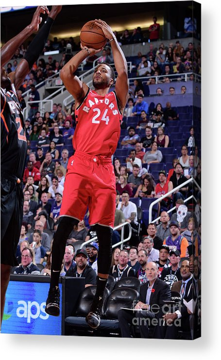 Nba Pro Basketball Acrylic Print featuring the photograph Norman Powell by Michael Gonzales