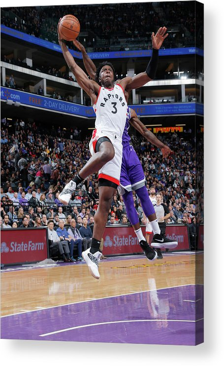 Nba Pro Basketball Acrylic Print featuring the photograph Og Anunoby by Rocky Widner