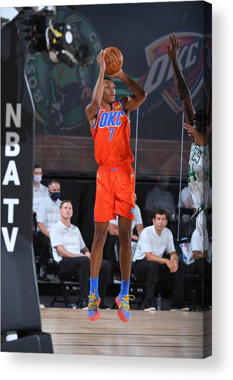 Nba Pro Basketball Acrylic Print featuring the photograph Oklahoma City Thunder v Boston Celtics by Garrett Ellwood