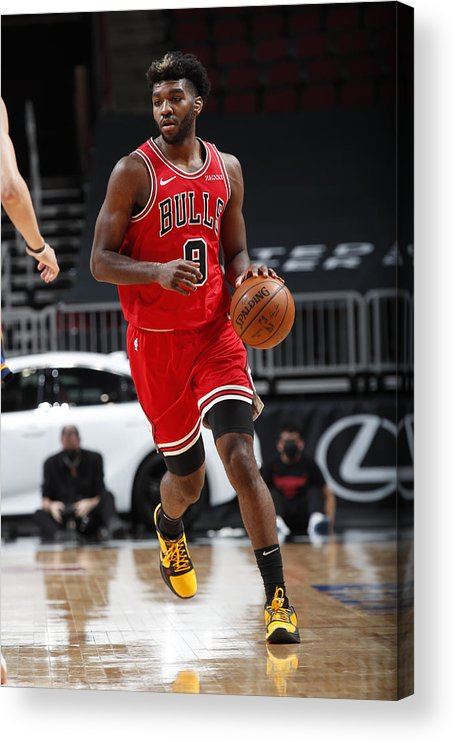 Nba Pro Basketball Acrylic Print featuring the photograph Oklahoma City Thunder v Chicago Bulls by Jeff Haynes
