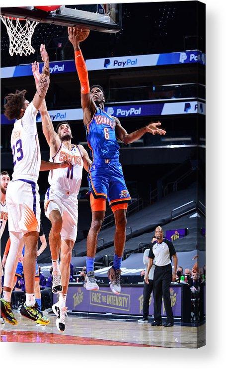 Nba Pro Basketball Acrylic Print featuring the photograph Oklahoma City Thunder v Phoenix Suns by Michael Gonzales