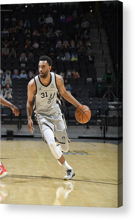 Nba Pro Basketball Acrylic Print featuring the photograph Oklahoma City Thunder vs. San Antonio Spurs by Logan Riely