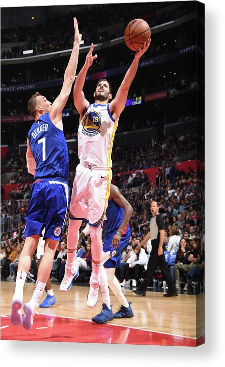 Nba Pro Basketball Acrylic Print featuring the photograph Omri Casspi by Andrew D. Bernstein