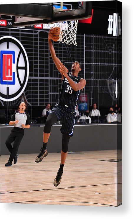 Nba Pro Basketball Acrylic Print featuring the photograph Orlando Magic v Los Angeles Clippers by Jesse D. Garrabrant