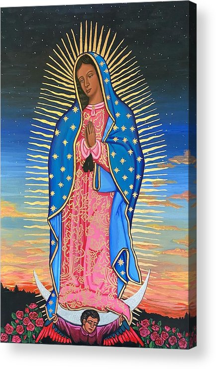 Acrylic Print featuring the painting Our Lady of Guadalupe by Kelly Latimore