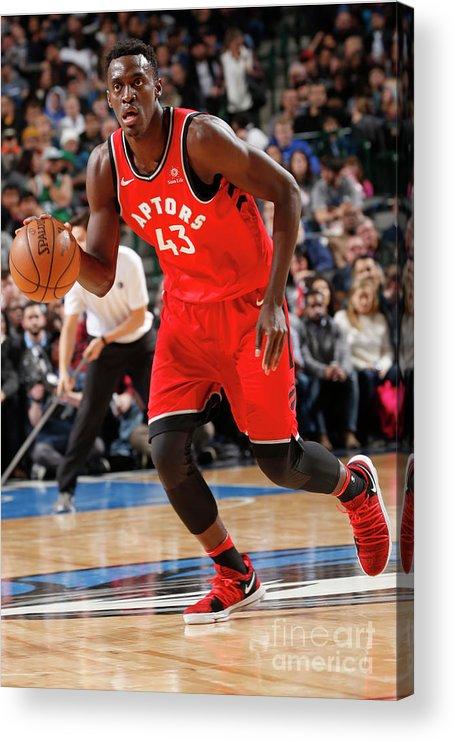 Nba Pro Basketball Acrylic Print featuring the photograph Pascal Siakam by Glenn James