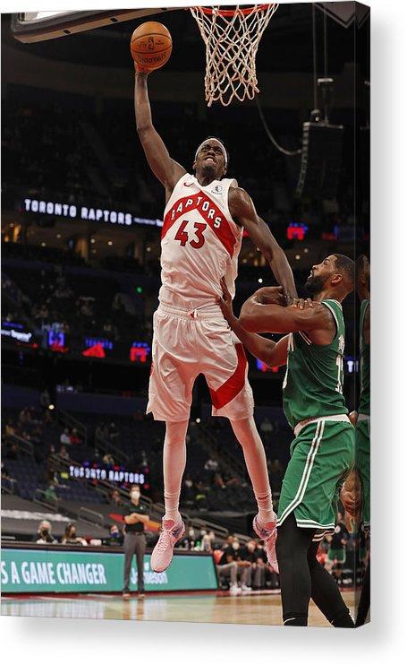 Nba Pro Basketball Acrylic Print featuring the photograph Pascal Siakam by Scott Audette