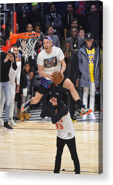Nba Pro Basketball Acrylic Print featuring the photograph Pat Connaughton by Bill Baptist