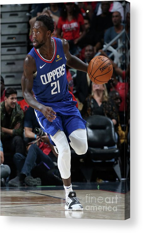 Smoothie King Center Acrylic Print featuring the photograph Patrick Beverley by Layne Murdoch Jr.