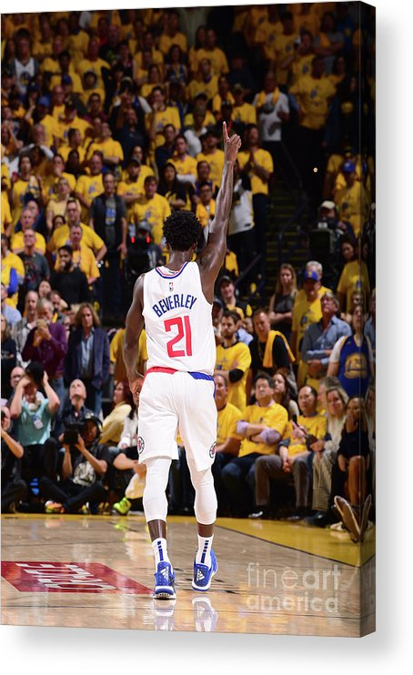 Playoffs Acrylic Print featuring the photograph Patrick Beverley by Noah Graham