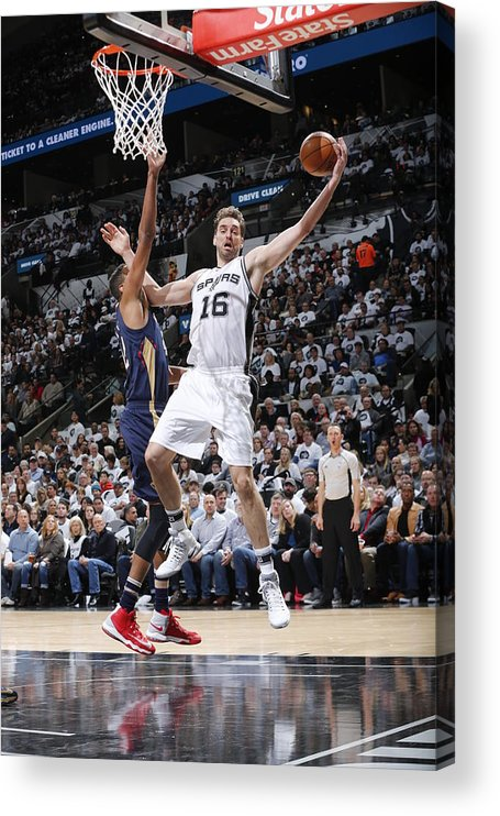 Nba Pro Basketball Acrylic Print featuring the photograph Pau Gasol by Chris Covatta