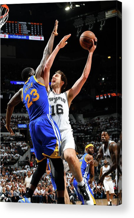 Playoffs Acrylic Print featuring the photograph Pau Gasol by Jesse D. Garrabrant