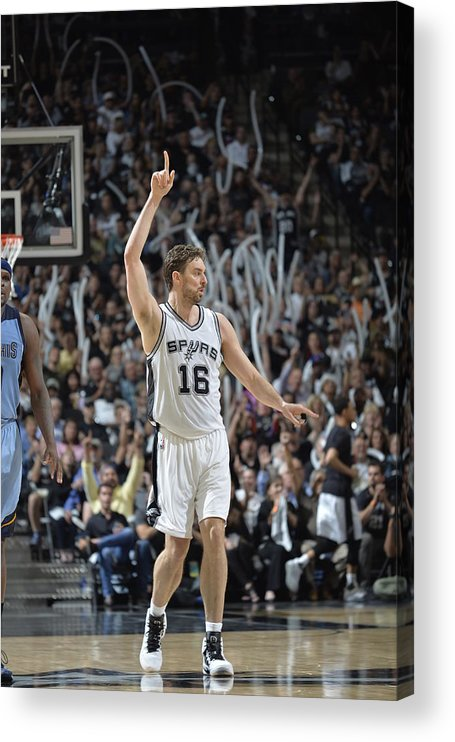 Playoffs Acrylic Print featuring the photograph Pau Gasol by Mark Sobhani