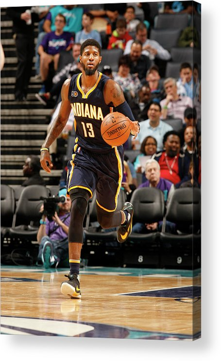 Nba Pro Basketball Acrylic Print featuring the photograph Paul George by Kent Smith