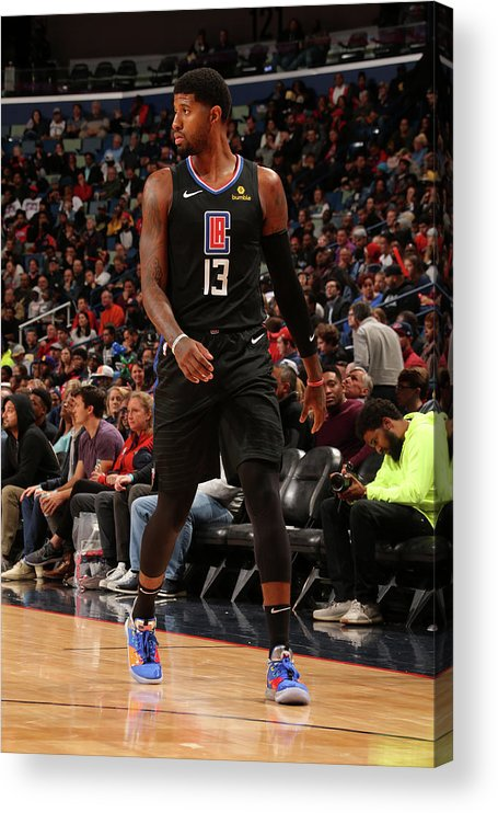 Smoothie King Center Acrylic Print featuring the photograph Paul George by Layne Murdoch Jr.