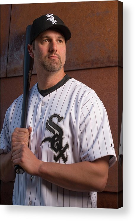 Media Day Acrylic Print featuring the photograph Paul Konerko by Rob Tringali