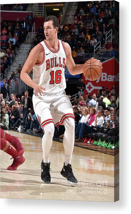 Nba Pro Basketball Acrylic Print featuring the photograph Paul Zipser by David Liam Kyle