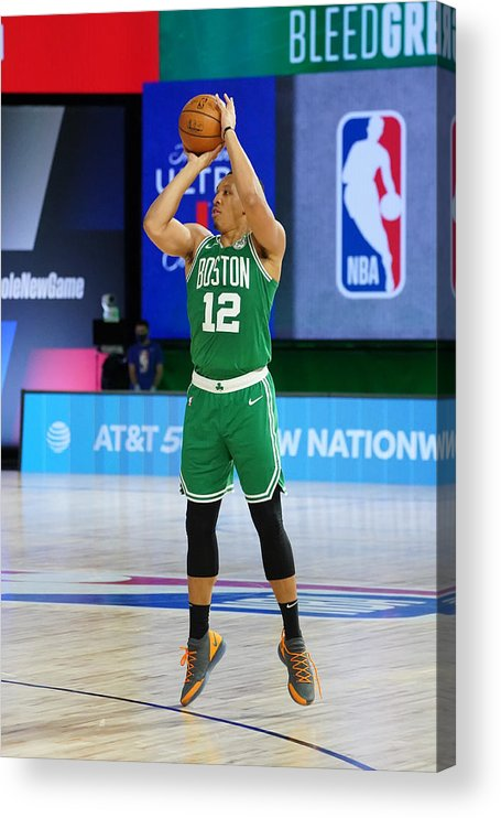 Playoffs Acrylic Print featuring the photograph Philadelphia 76ers v Boston Celtics - Game Two by Jesse D. Garrabrant