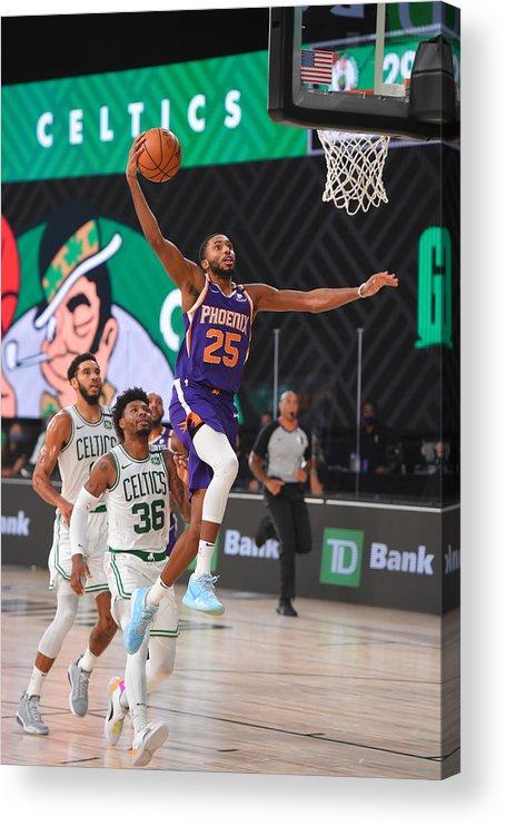 Nba Pro Basketball Acrylic Print featuring the photograph Phoenix Suns v Boston Celtics by Bill Baptist