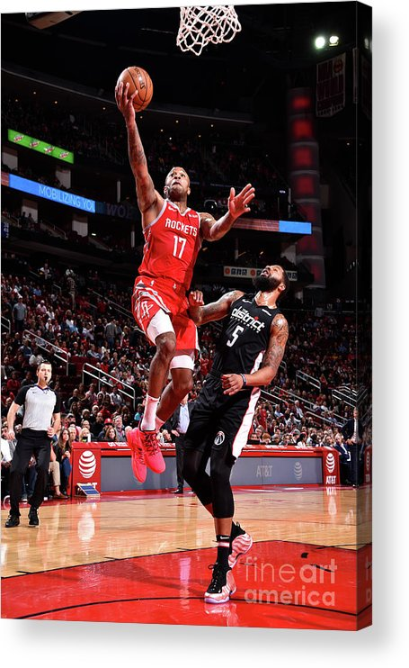 Nba Pro Basketball Acrylic Print featuring the photograph P.j. Tucker and Markieff Morris by Bill Baptist