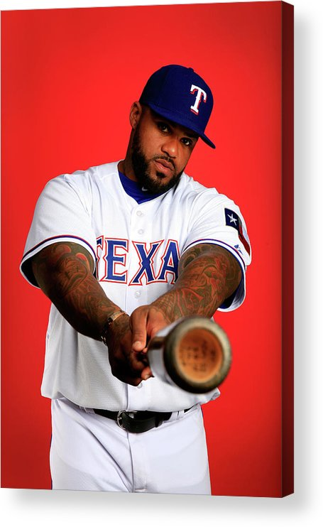 Media Day Acrylic Print featuring the photograph Prince Fielder by Jamie Squire