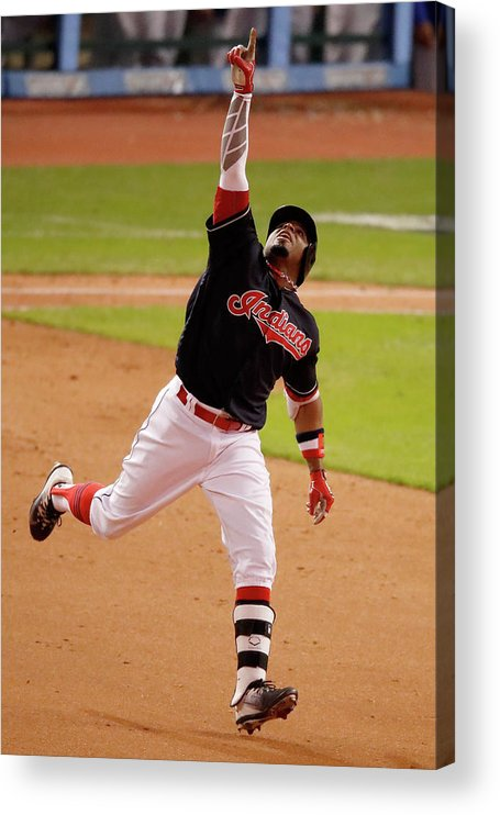 People Acrylic Print featuring the photograph Rajai Davis by Gregory Shamus