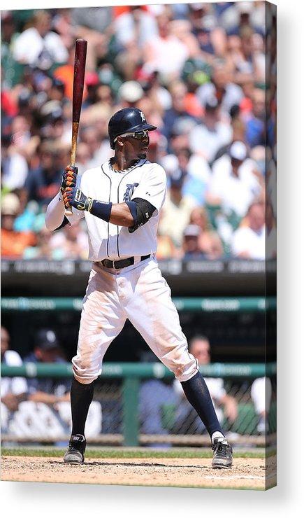 American League Baseball Acrylic Print featuring the photograph Rajai Davis by Leon Halip