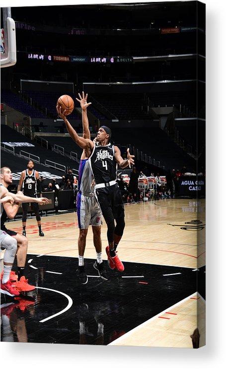 Nba Pro Basketball Acrylic Print featuring the photograph Rajon Rondo by Adam Pantozzi
