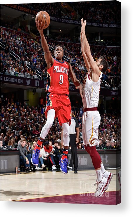 Sports Ball Acrylic Print featuring the photograph Rajon Rondo by David Liam Kyle