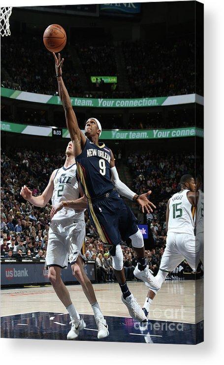 Nba Pro Basketball Acrylic Print featuring the photograph Rajon Rondo by Melissa Majchrzak