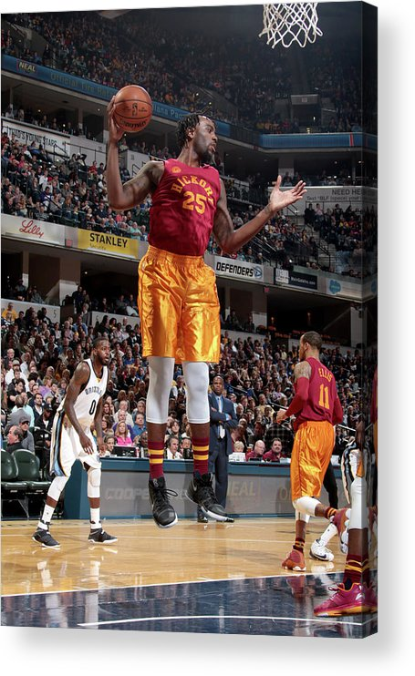 Nba Pro Basketball Acrylic Print featuring the photograph Rakeem Christmas by Ron Hoskins