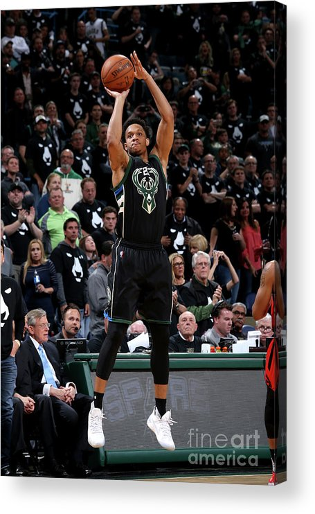 Playoffs Acrylic Print featuring the photograph Rashad Vaughn by Gary Dineen