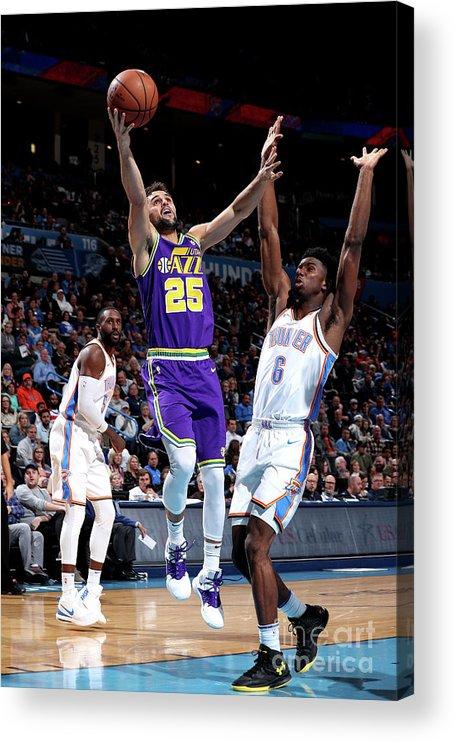 Nba Pro Basketball Acrylic Print featuring the photograph Raul Neto by Joe Murphy