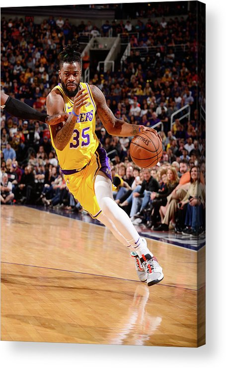 Nba Pro Basketball Acrylic Print featuring the photograph Reggie Bullock by Barry Gossage