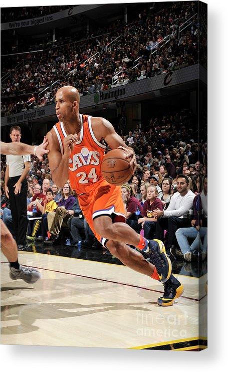 Nba Pro Basketball Acrylic Print featuring the photograph Richard Jefferson by David Liam Kyle