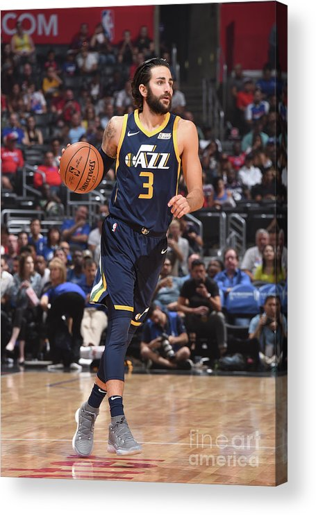 Nba Pro Basketball Acrylic Print featuring the photograph Ricky Rubio by Andrew D. Bernstein