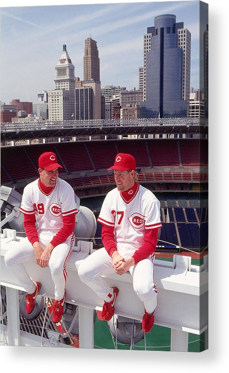 Rob Dibble Acrylic Print featuring the photograph Rob Dibble by Ronald C. Modra/sports Imagery