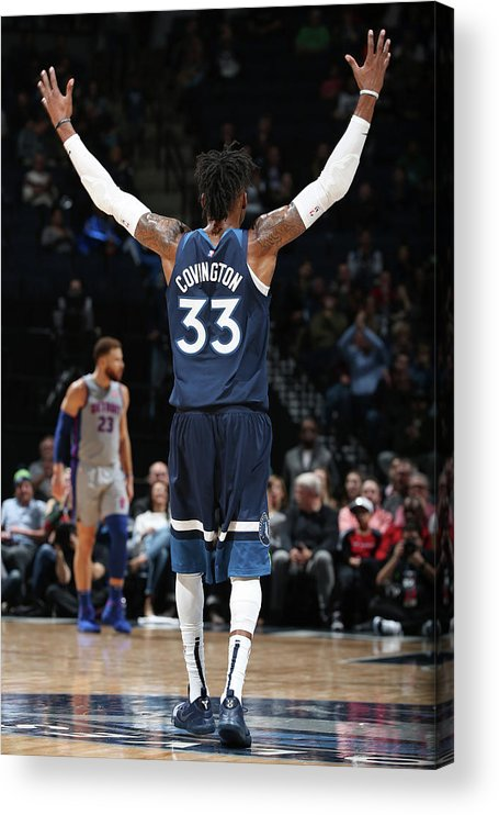 Nba Pro Basketball Acrylic Print featuring the photograph Robert Covington by David Sherman
