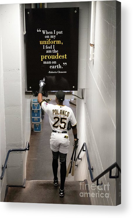 People Acrylic Print featuring the photograph Roberto Clemente and Gregory Polanco by Justin Berl