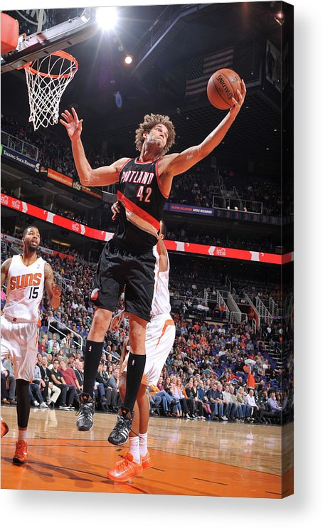 Nba Pro Basketball Acrylic Print featuring the photograph Robin Lopez by Barry Gossage