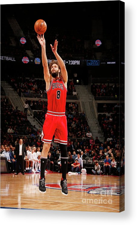 Nba Pro Basketball Acrylic Print featuring the photograph Robin Lopez by Brian Sevald