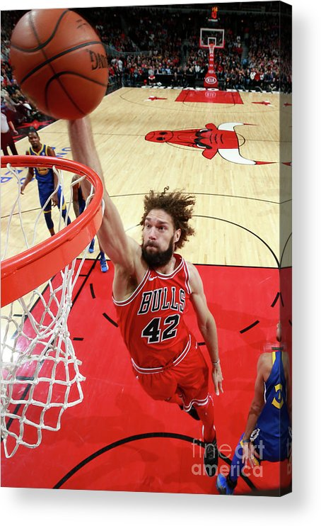 Nba Pro Basketball Acrylic Print featuring the photograph Robin Lopez by Jeff Haynes