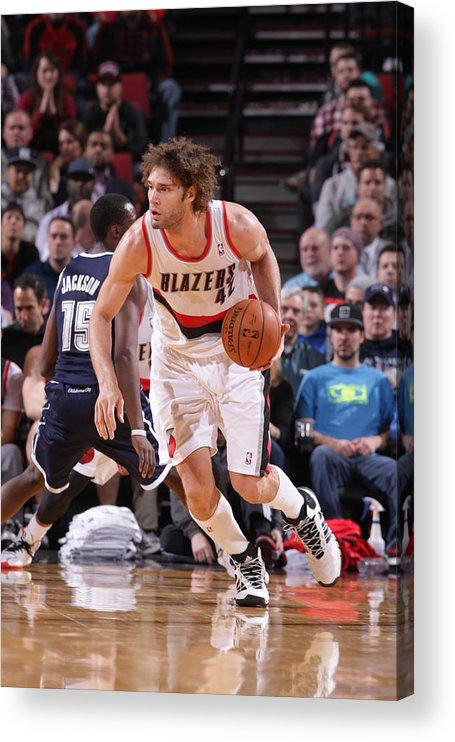 Nba Pro Basketball Acrylic Print featuring the photograph Robin Lopez by Sam Forencich