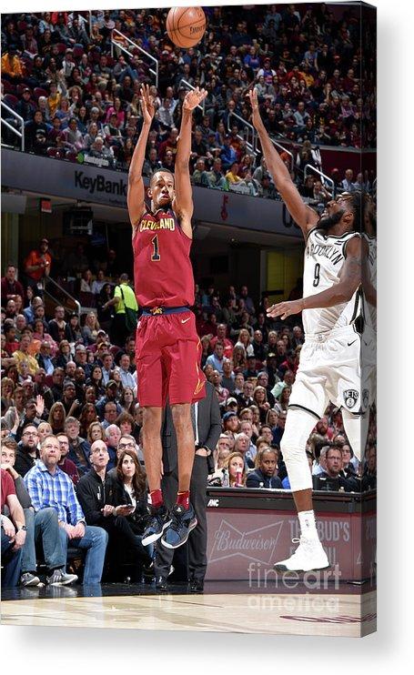 Nba Pro Basketball Acrylic Print featuring the photograph Rodney Hood by David Liam Kyle