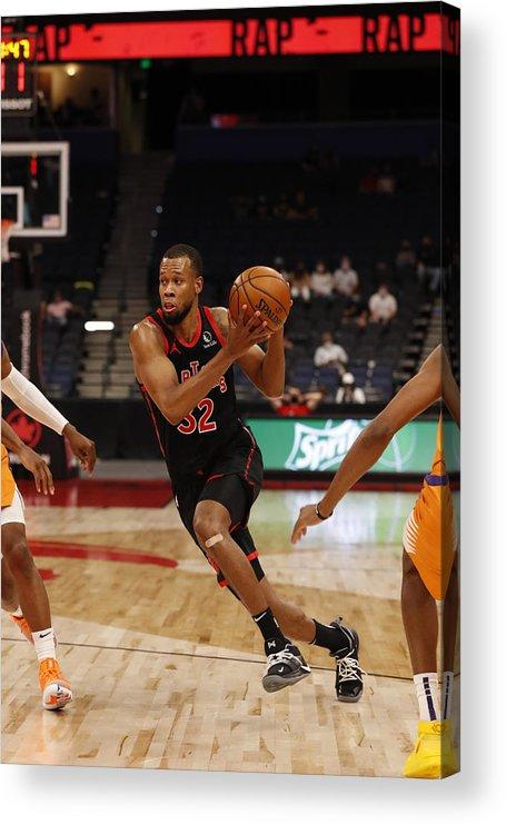 Nba Pro Basketball Acrylic Print featuring the photograph Rodney Hood by Scott Audette