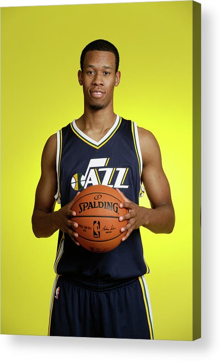 Nba Pro Basketball Acrylic Print featuring the photograph Rodney Hood by Steve Freeman