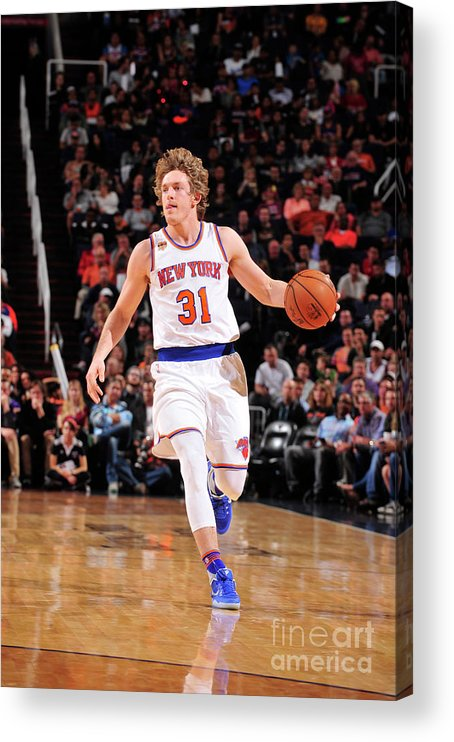 Nba Pro Basketball Acrylic Print featuring the photograph Ron Baker by Barry Gossage