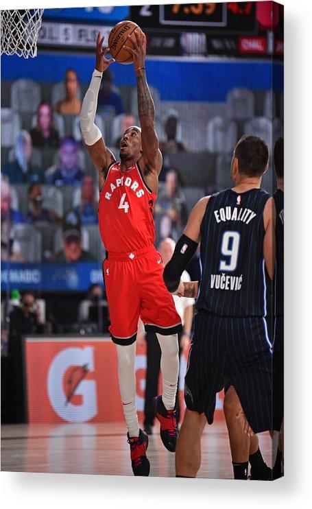 Nba Pro Basketball Acrylic Print featuring the photograph Rondae Hollis-jefferson by David Dow