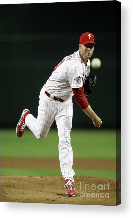 People Acrylic Print featuring the photograph Roy Halladay by Pool